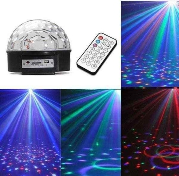 DISCO PARTY LICHT EFFEKT KUGEL BALL LED LAMPE LICHTEFFEKT RGB discokugel DJ ...