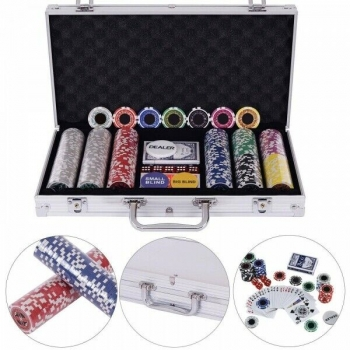 Pokerchips  Pokerkoffer Pokerset 300 Chips Laser Poker Set Jetons Alu Koffer ...