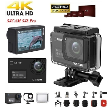 SJCAM SJ8 Pro Action Kamera W i F  i 4K 60fps Dual Touchscreen Cam Camera action