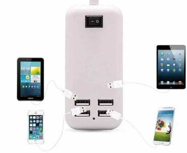4 Port USB Ladegerät Charger Adapter für Apple iphone 5/5S/5G/4G/4S 15W Samsung Huawei LG